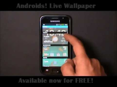 Video of Androids! Live Wallpaper