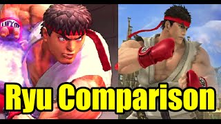 I finally made the Ryu's Street Fighter vs Super Smash Bros Wii U Comparison (As well as a small evolution)