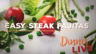 Easy Steak Fajitas | Dinner LIVE by The Domestic Geek