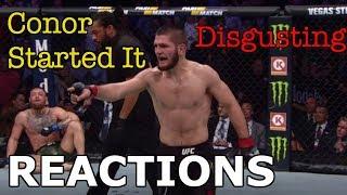 Video MMA Reacts to Khabib Nurmagomedov Defeating Conor McGregor | Post-Fight Brawl - UFC 229 MP3, 3GP, MP4, WEBM, AVI, FLV Oktober 2018