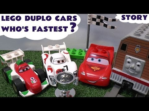Thomas and Friends Play Doh Lego Duplo Disney Cars 2 Lightning McQueen Race Grand Prix Play-Doh