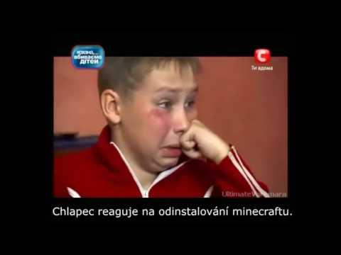 Ukrainské dítě nechce vypnout minecraft