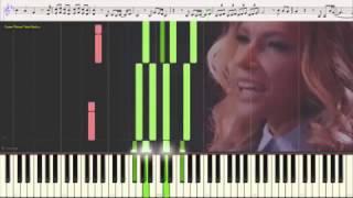 Julia Samoylova - Flame Is Burning (Russia) (Ноты и Видеоурок для фортепиано) (piano cover)