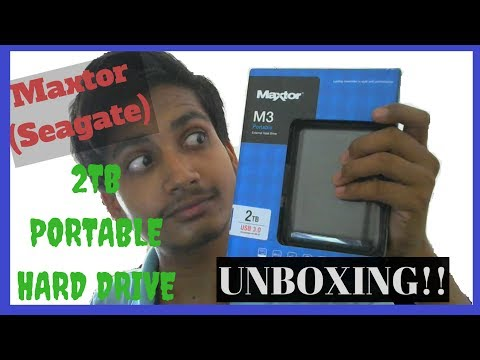 MAXTOR (SEAGATE) M3 2TB PORTABLE HARD DRIVE UNBOXING