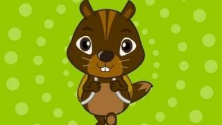 Chipmunk Family, nursery rhymes and children songs with lyrics, muffin songs