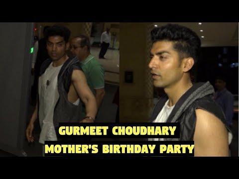 Gurmeet Choudhary At His Mother's Birthday Party