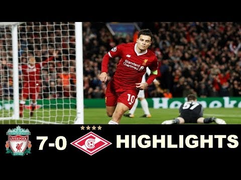 Liverpool vs Spartak Moscow 7 0 - All Goals & Extended Highlights - Champions League  06/12/2017