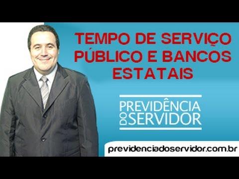 O tempo de serviço junto aos Bancos Públicos pode ser considerado como de serviço público?