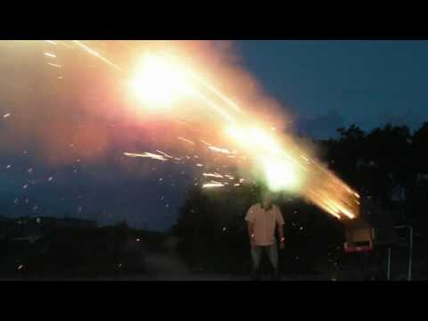 fireworks - WARNING : DO NOT TRY THIS ALONE OR WITHOUT FIRE EXTINGUISHER We came up with this fun idea of firing up the massive fireworks. We never had a real fun at fir...