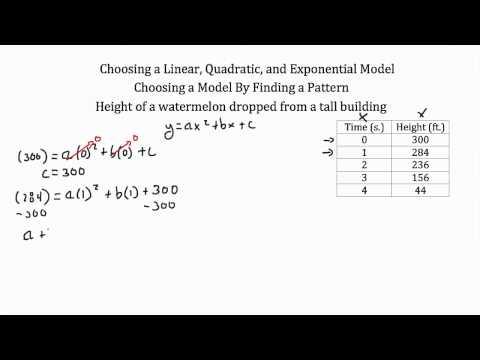 Modeling-lineare Funktionen, quadratische Funktionen, Exponentialfunktionen PT 2