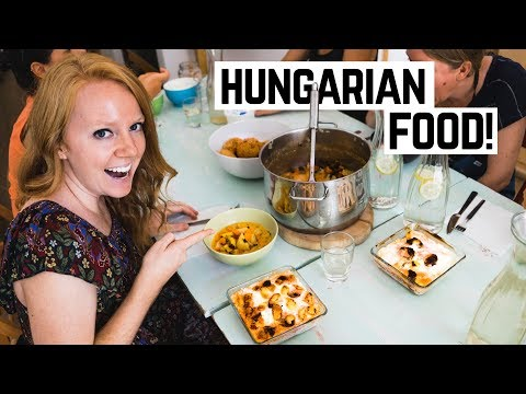 Hungarian Food COOKING LESSON! - Budapest, Hungary (Americans Try Hungarian Food)