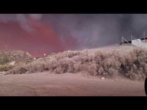 Santa Clarita Mountains Sand Canyon brush fire 2016