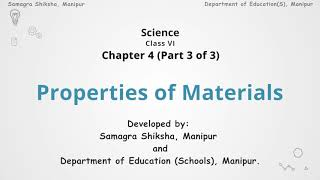 Chapter 4 (Part 3 of 3) - Properties of Materials