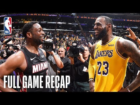 Video: HEAT vs LAKERS | Wade & LeBron's Final Match-Up | December 10, 2018