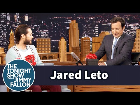 Jared Leto Gives Jimmy Fallon a Gift From The