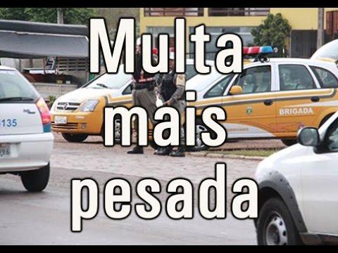 Vídeo Mudança no Código de Trânsito Brasileiro elevam valores de multas