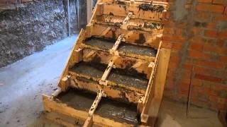 Изготовление бетонной лестницы. ч.6