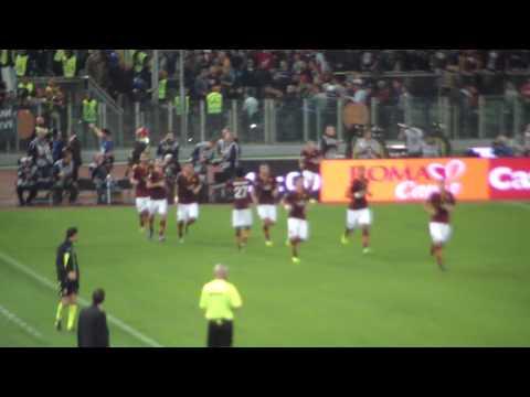 roma - napoli 1-0 il gol di pjanic (immagini inedite tv russa)