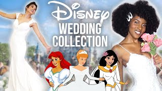 We Try On Disney's NEW Princess Wedding Dresses!!! by Clevver Style