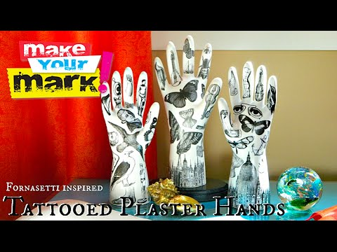 Tattooed Plaster Hands
