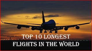 """Top 10 Longest flights in the worldDiscover the top 10 longest flights in the world.Visit our Channel for Top Attractions:https://www.youtube.com/user/talancutaPlease Subscribe to our Channel:https://www.youtube.com/subscription_center?add_user=talancuta1. Dubai to Panama CityAirline: EmiratesTravel time: 17 hours, 35 minutesDistance: 8,588 miles2. Dallas/Fort Worth to SydneyAirline: QantasTravel time: 16 hours, 55 minutesDistance: 8,577 miles 3. Los Angeles to JeddahAirline: SaudiaTravel time: 16 hours, 55 minutesDistance: 8,332 miles4. Johannesburg to AtlantaAirline: DeltaTravel time: 16 hours, 40 minutesDistance: 8,440 miles5. Dubai to Los AngelesAirline: EmiratesTravel time: 16 hours, 35 minutesDistance: 8,339 miles6. Abu Dhabi to Los AngelesAirline: Etihad AirwaysTravel time: 16 hours, 30 minutesDistance: 8,390 miles7. Dubai to HoustonAirline: EmiratesTravel time: 16 hours, 20 minutesDistance: 8,167 miles8. Dallas/Fort Worth to Hong KongAirline: American AirlinesTravel time: 16 hours, 20 minutesDistance: 8,123 miles9. Abu Dhabi to San FranciscoAirline: Etihad AirwaysTravel time: 16 hours, 15 minutesDistance: 8,157 miles10. Dubai to San FranciscoAirline: EmiratesTravel time: 15 hours, 50 minutesDistance: 8,103 milesVisit our Channel for Top Attractions:https://www.youtube.com/user/talancutaPlease Subscribe to our Channel:https://www.youtube.com/subscription_center?add_user=talancutaArtist:Joseespirit - Joseespirit Music Playlist: http://bit.ly/Joseespirit-MFMNaisBTrack Name:Forgotten DreamsGenre:Progressive House Music - Progressive House Music Playlist: http://bit.ly/ProgressiveHouse-MFMDownload NaisB & Joseespirit - Forgotten Dreams music for FREE:http://adf.ly/1TMpBwThis track's license, Creative Commons Attribution, requires attribution. If you use this song in a video, cite the creator using the info below:""""Forgotten Dreams"""" by """"NaisB & Joseespirit"""" is licensed under a Creative Commons Licence.http://adf.ly/1TMpBwhttps://youtu.be/3KnAwHPipaYJoseespirit Soci"""