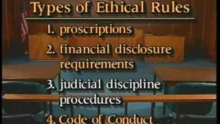 Judicial Ethics, Part I