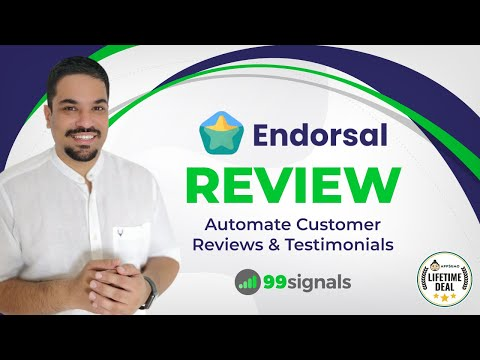 Watch 'Endorsal Review & Walkthrough: Get More Testimonials & Build Social Proof [AppSumo Lifetime Deal] - YouTube'