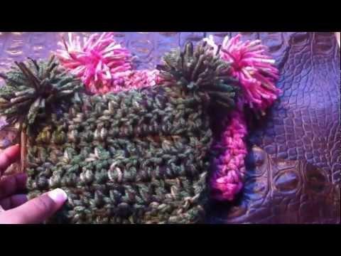 Newborn Baby Crochet Camo hat