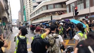 Protesters attack the office of members of the Hong Kong Legislative Council