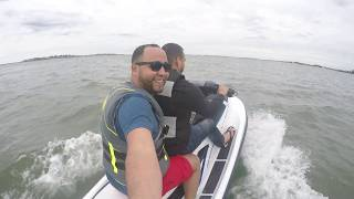10. Testing my new 2017 Yamaha EX Sport Jet Ski - First Time in water - Lynn MA