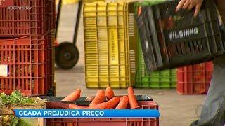 Frio e geada afetam o preço dos hortifrutis na região