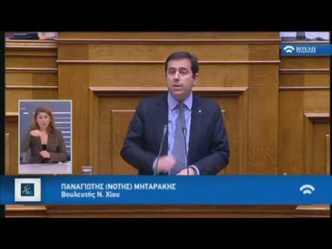 Π.Μηταράκης (Εισηγητής ΝΔ) (Δανειοδότηση Κομμάτων και Εταιρειών Μ.Μ.Ε)(01/02/2017)
