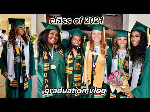 I GRADUATED HIGH SCHOOL!!   GRWM + Graduation Vlog  *Class of 2021*   LexiVee