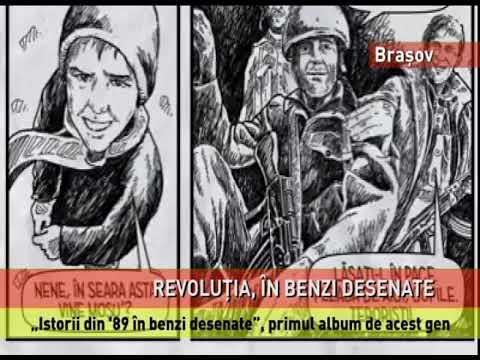 """Albumul """"Istorii din `89 în benzi desenate"""", lansat la Brașov"""