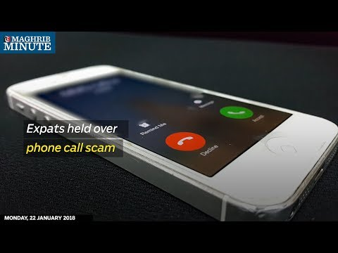 Expats held over phone call scam