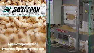Видео Гран-ТБ-П - Линии по производству топливных брикетов из кусковых древесных отходов естественной влажности