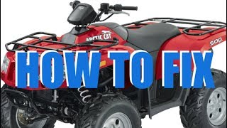 1. Arctic Cat Transmission Won't Shift (150 250 300 366 375 400 500 550)