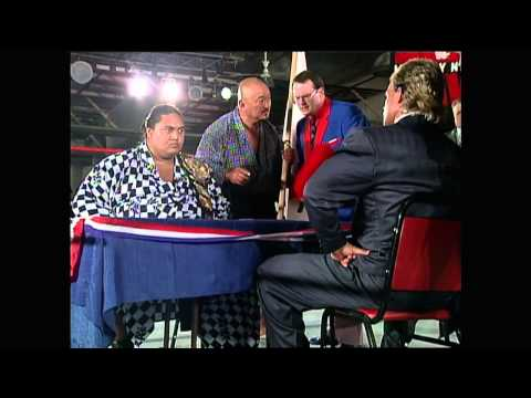 Yokozuna (Heavyweight Champion) contract signing with Lex Luger HD - Aug. 1993