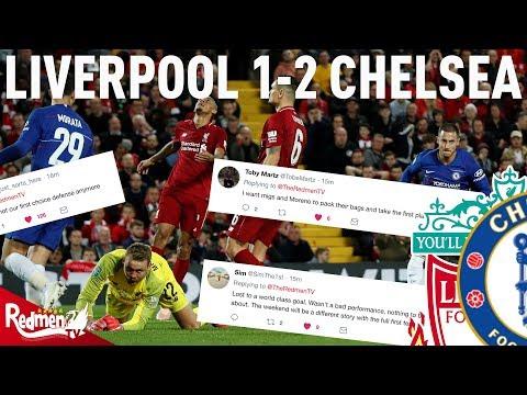 Liverpool v Chelsea 1-2   #LFC Fan Twitter Reactions