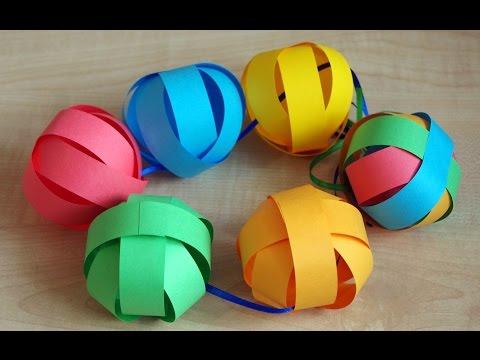 Ютуб как сделать шарик из бумаги