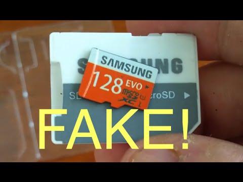 FAKE 128GB Samsung Evo microSDXC UHS-I Card