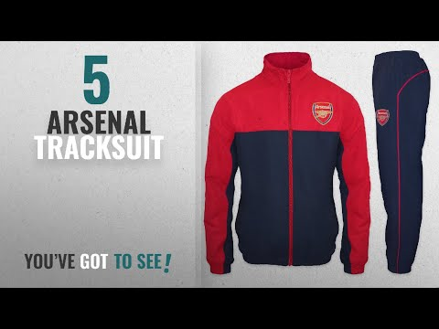 Top 10 Arsenal Tracksuit [2018]: Arsenal FC Official Football Gift Mens Jacket & Pants Tracksuit
