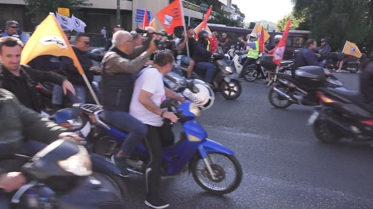Μηχανοκίνητη πορεία της ΠΟΕ-ΟΤΑ  στο κέντρο της Αθήνας