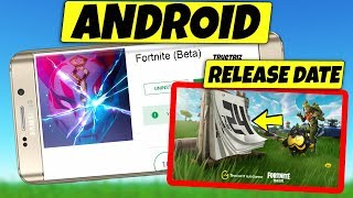 Fortnite Mobile ANDROID Release Date CONFIRMED