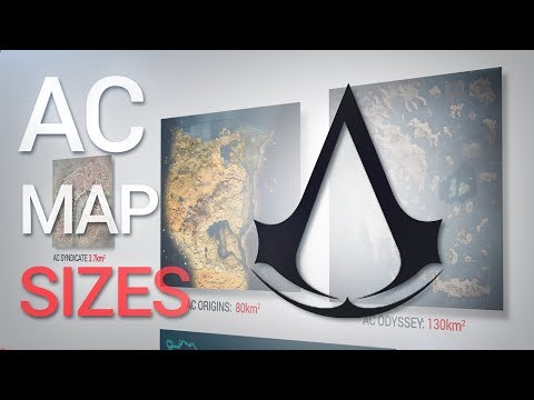 Assassin's Creed: Maps SIZE Comparison (including Odyssey)