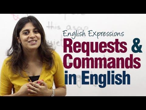 Requests & Commands in English - Useful English Expressions