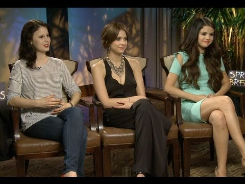 hitfixcom - Selena Gomez, Ashley Benson & Rachel Korine discuss the wild and dark sides of their characters in 'Spring Breakers'. The trio also talks about James Franco'...