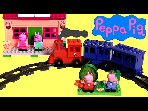 Video Pig George e Peppa Pig na Estação de Trem Blocos tipo Lego Duplo TOYSBR Juguete Estación de Tren download in MP3, 3GP, MP4, WEBM, AVI, FLV January 2017