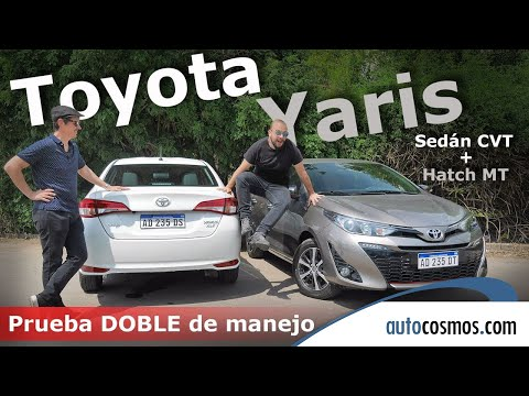 Test Toyota Yaris hatch y sedán, MT y AT