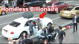 Video The Homeless Billionaire Prank! MP3, 3GP, MP4, WEBM, AVI, FLV September 2018